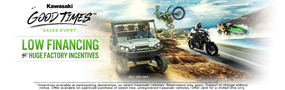 Kawasaki Good times sales event